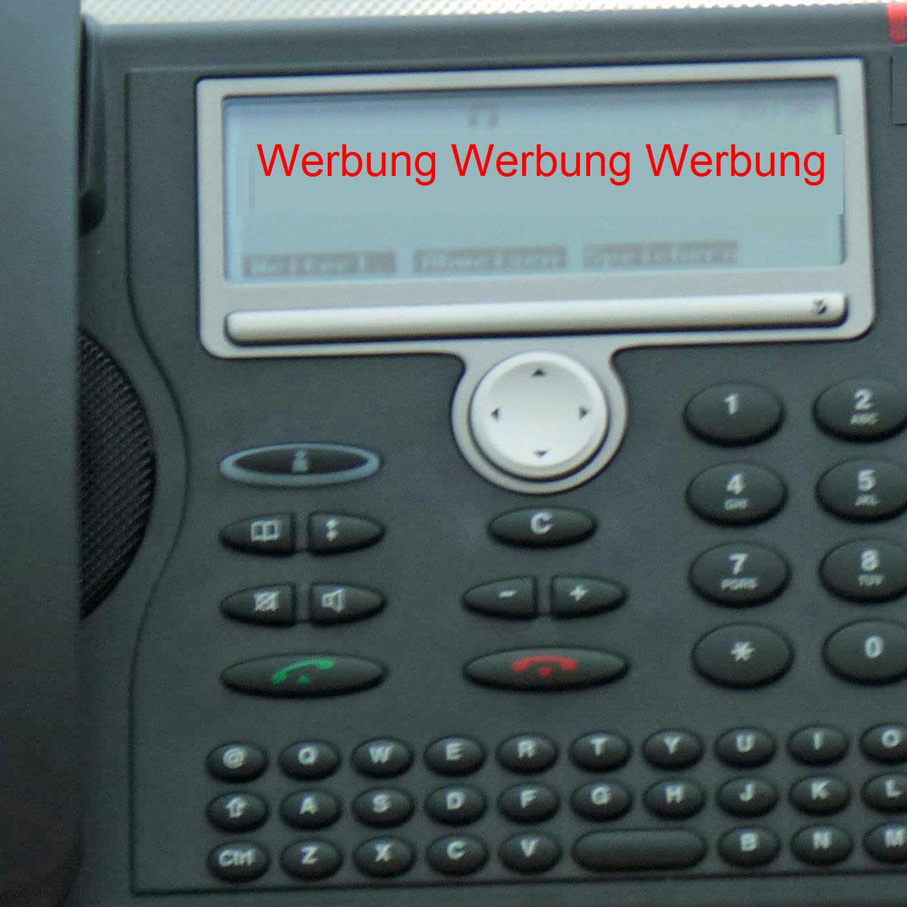 Telefonwerbung verboten (C) 2014 Be