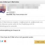 Amazon Weiterempfehlung